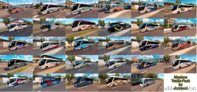 Mexican Traffic Pack By Jazzycat V2.0.2 for American Truck Simulator