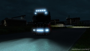 Alexd Flare And 5500 K Lights For ALL Trucks V1.6 for Euro Truck Simulator 2