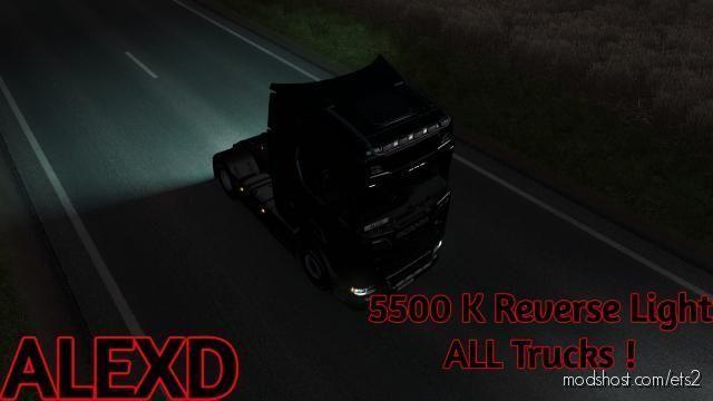 Alexd 5500K Reverse Light V1.6 for Euro Truck Simulator 2