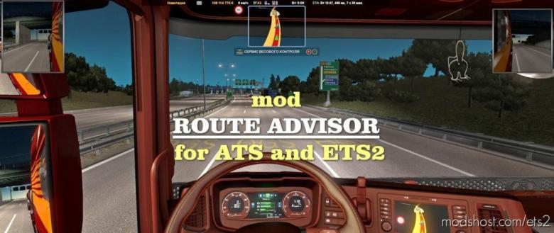 Route Advisor [1.38] for Euro Truck Simulator 2