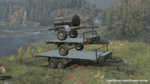 Realistic Weight Off-Road Trailers for SnowRunner