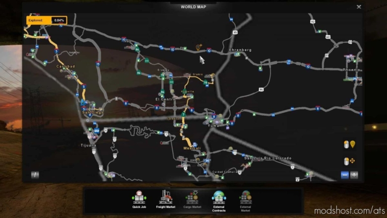 Pazzmod Salton SEA Area, Yuma, Mexicali V1.2.02A for American Truck Simulator