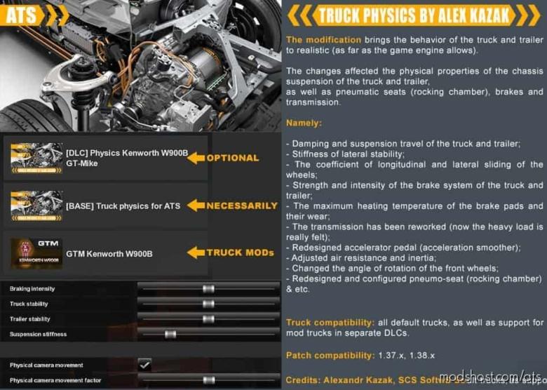 Truck Physics By Alex Kazak V0.1.0.4 for American Truck Simulator