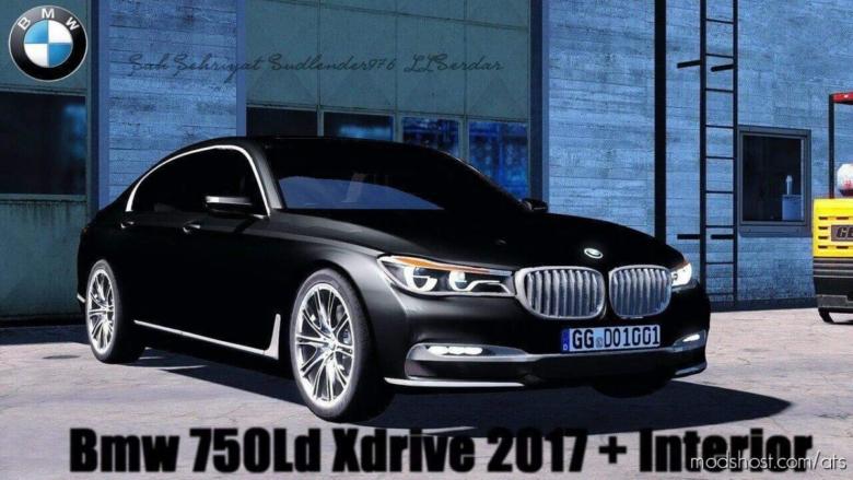 BMW 750LD Xdrive 2017 + Interior V1.2 for American Truck Simulator