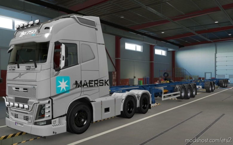 Skin Volvo FH16 2012 Maersk Cinza [1.37] for Euro Truck Simulator 2