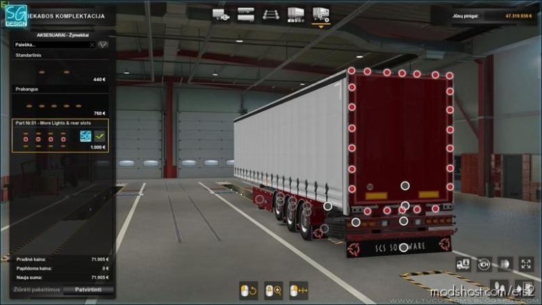 SCS Trailer Tuning Pack V1.7 for Euro Truck Simulator 2