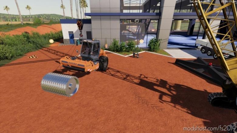 Single Drum Vibratory Roller for Farming Simulator 19