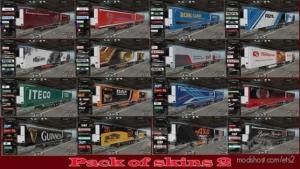 Pack Of Skins V2.0 for Euro Truck Simulator 2
