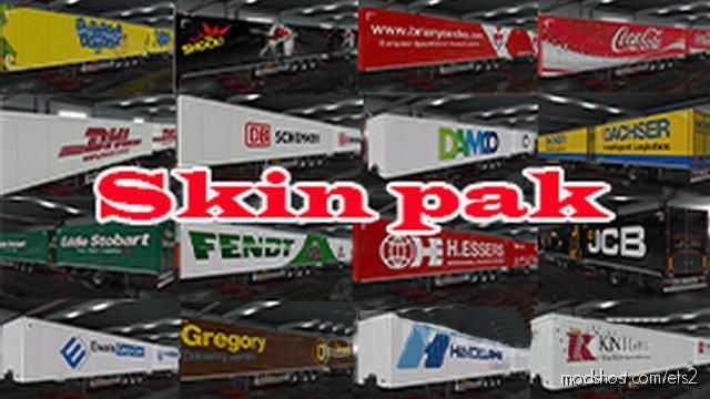 Pack Of Trailer Skins By Alik [1.38.X] for Euro Truck Simulator 2