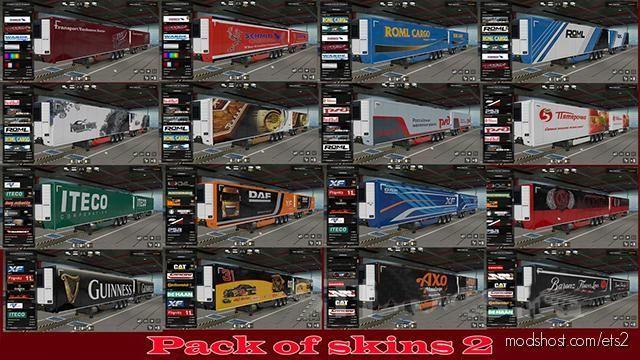 Pack Of Trailer Skins By Alik 2 [1.38.X] for Euro Truck Simulator 2