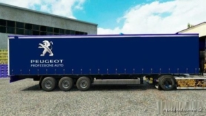 Skin Trailer Peugeot Version [1.35 – 1.38] for Euro Truck Simulator 2