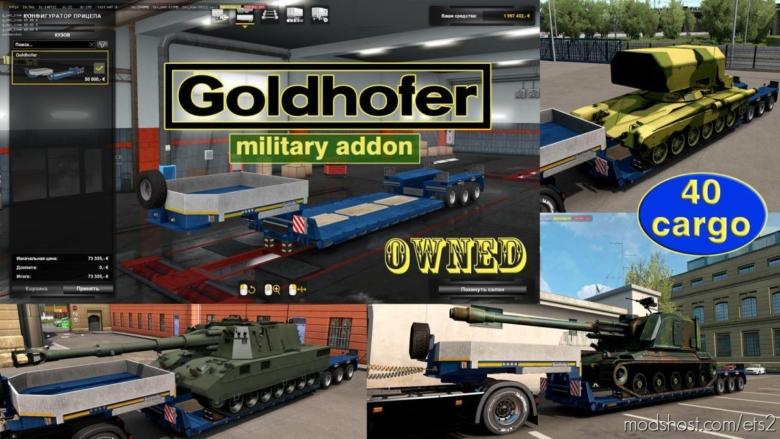 Military Addon For Ownable Trailer Goldhofer V1.4.3 for Euro Truck Simulator 2