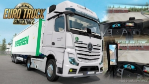 Mercedes Benz NEW Actros 2019 By Actros 5 Crew Fixed V1.4 for Euro Truck Simulator 2