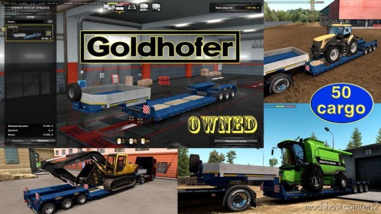 Ownable Overweight Trailer Goldhofer V1.4.4 for Euro Truck Simulator 2