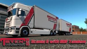 Toten Transport Scania S Tandem for Euro Truck Simulator 2