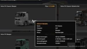 10.000L Fuel Tank For ALL Volvo Trucks for Euro Truck Simulator 2