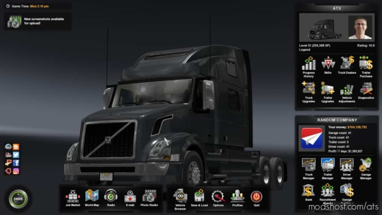 Save Game (ALL DLCs) [1.38] for American Truck Simulator