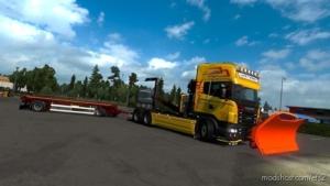 Snow Plow By Teklic V1.1 [1.36 – 1.38] for Euro Truck Simulator 2