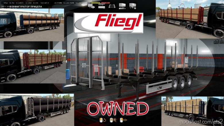 Ownable LOG Trailer Fliegl V1.0.4 for Euro Truck Simulator 2