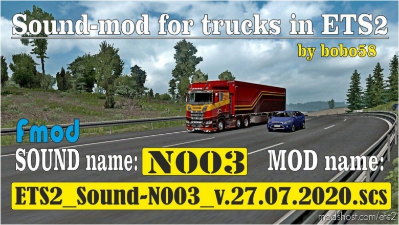 Sound N003 [1.38] for Euro Truck Simulator 2