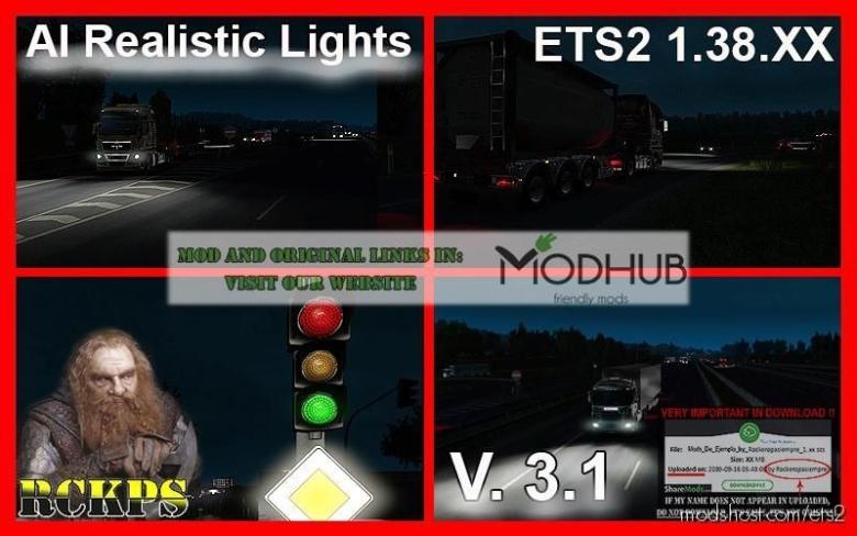 AI Realistic Lights V3.1 [1.38.X] for Euro Truck Simulator 2