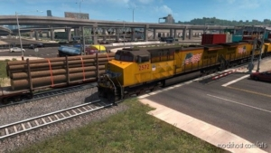 Long Trains Addon For Improved Trains V3.5 [1.38.X] for American Truck Simulator
