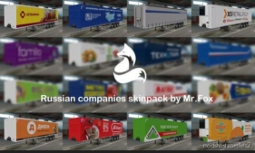 PAK Skins Of Russian Companies V1.6 for Euro Truck Simulator 2