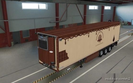 Krone Coolliner 'Lviv Handmade Chocolate' Skin for Euro Truck Simulator 2