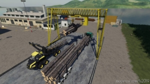 Wood Crane for Farming Simulator 19