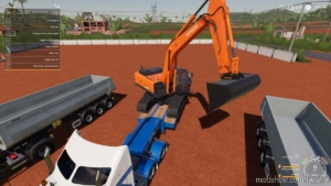 Xtra Wide Bucket For Hitachi 350 LC6 for Farming Simulator 19