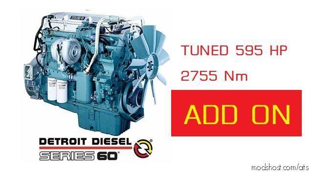 DD60/Tuned 595HP ADD ON [1.38.X] for American Truck Simulator