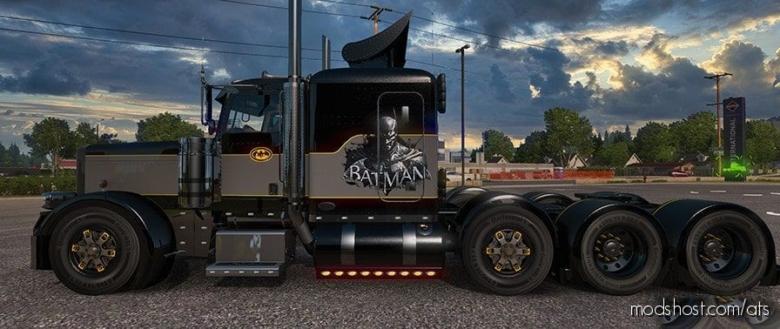 Batman Skin For The Peterbilt 389 Truck V2 for American Truck Simulator