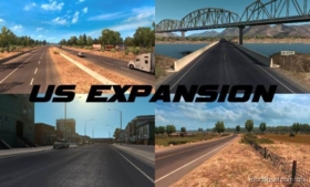US Expansion V2.7 – Sierra Nevada Compatible for American Truck Simulator