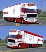 DAF XF 105 S.G. DE Vries Skin Pack for Euro Truck Simulator 2