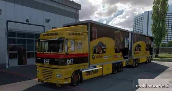 BDF Tandem DAF XF 105 CAT for Euro Truck Simulator 2