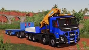 Volvo FMX 8X4 Crane Truck V1.1 for Farming Simulator 19