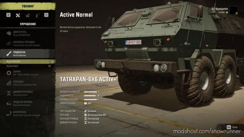 Tatrapan-6×6 Active+ V1.2 for SnowRunner