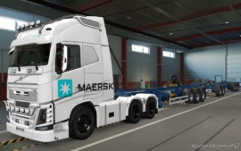 Skin Volvo FH16 2012 Maersk Branco [1.37] for Euro Truck Simulator 2