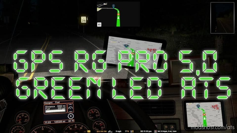 GPS RG PRO Green LED V5.0 for American Truck Simulator