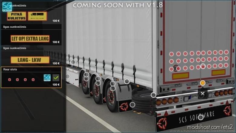 SCS Trailer Tuning Pack V1.8 for Euro Truck Simulator 2
