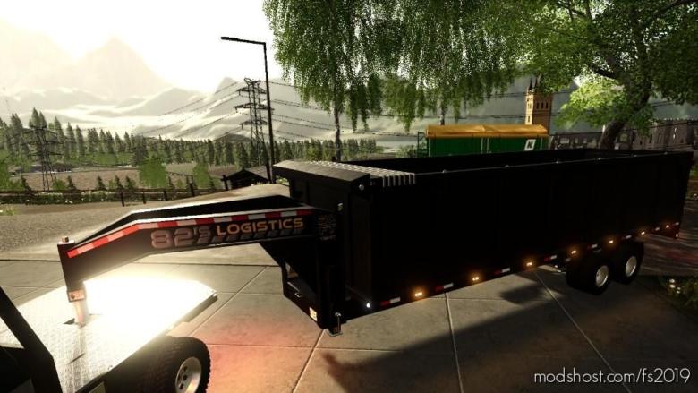 20FT Gooseneck Tipper Trailer for Farming Simulator 19