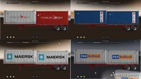 Cargo Pack For Real Shipping Container Companies [1.38] for American Truck Simulator