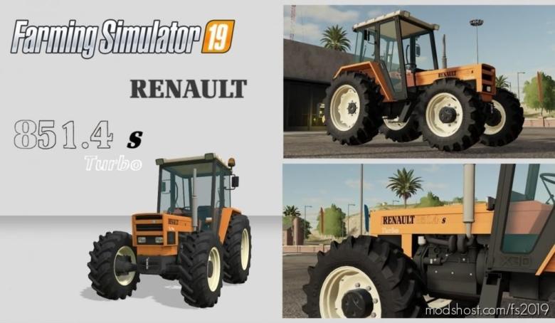 Renault 851-4S Turbo for Farming Simulator 19