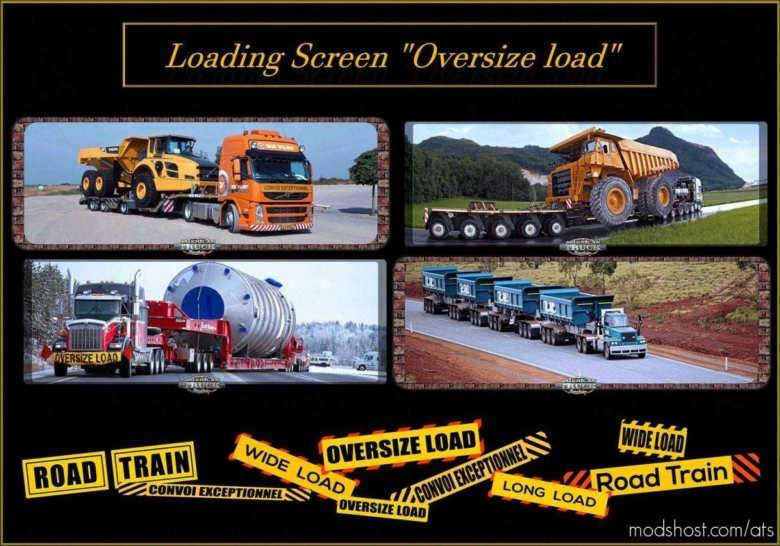 Loading Screen Oversize Load V1.1 for American Truck Simulator