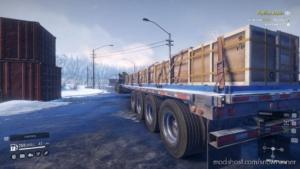 Stepdeck Semi-Trailer Quadaxle Improved for SnowRunner