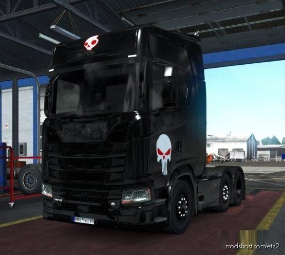 Scary Black Truck Skin [1.37 – 1.38] for Euro Truck Simulator 2