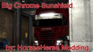 BIG Chrome Sunshield [1.38] for Euro Truck Simulator 2