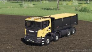 Scania XT 8×8 Tipper FS Miner's Orange Edition for Farming Simulator 19
