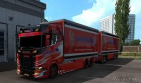 BDF Tandem Schmitz Cargobull RED for Euro Truck Simulator 2