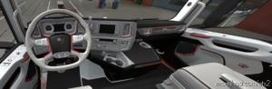 Scania S 2016 White – RED Interior [1.38.X] for Euro Truck Simulator 2